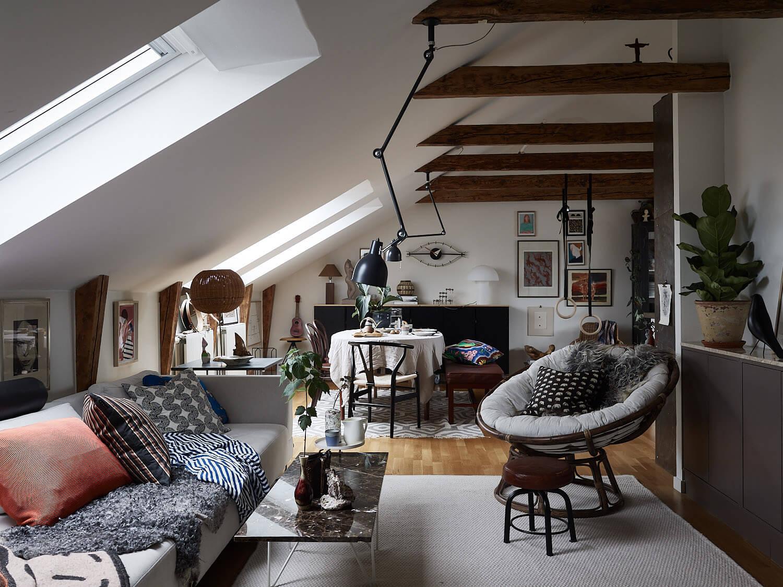 A Cozy Scandinavian Attic Apartment