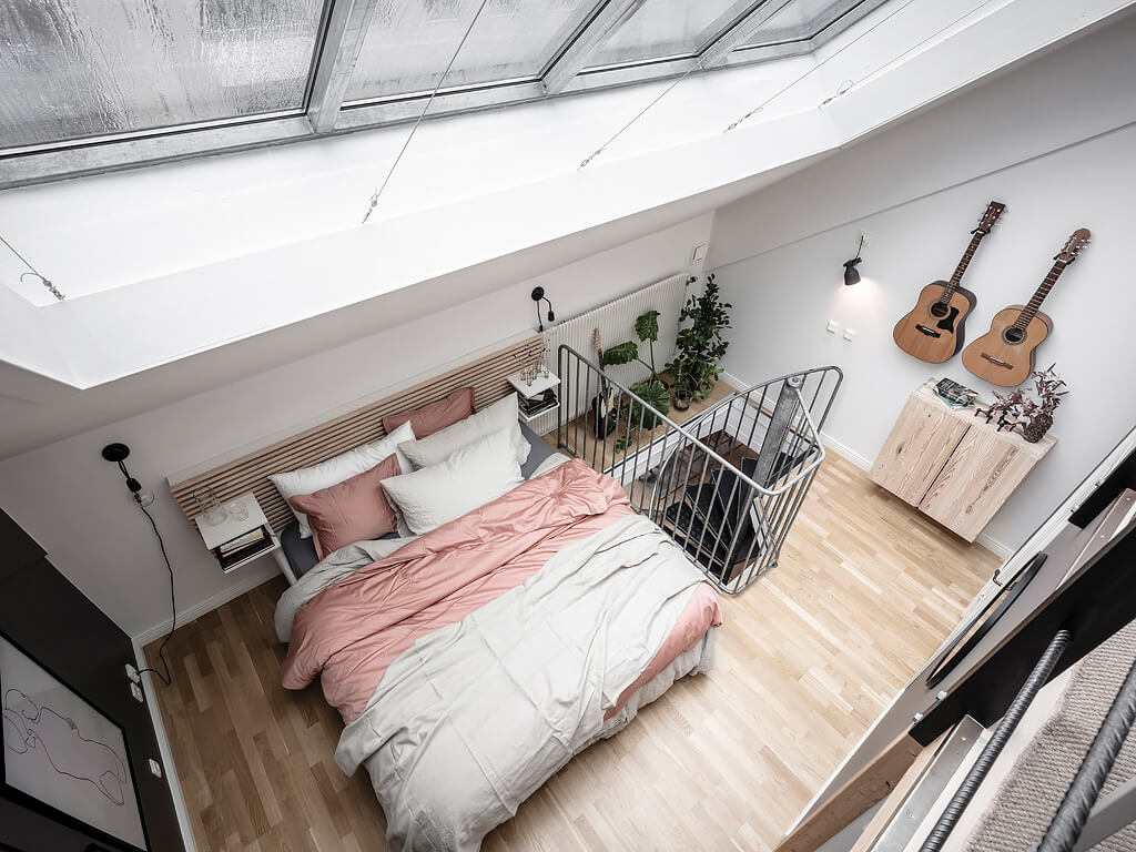 A Light Scandinavian Home with Multifunctional Attic Space