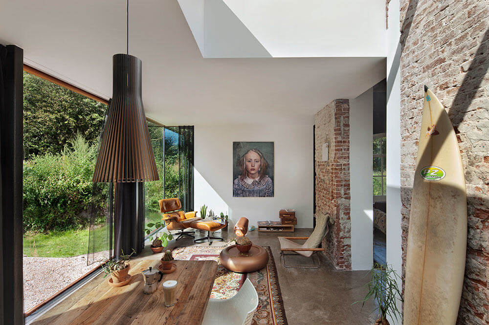 A Stunning Raw Home in a Former Railway House