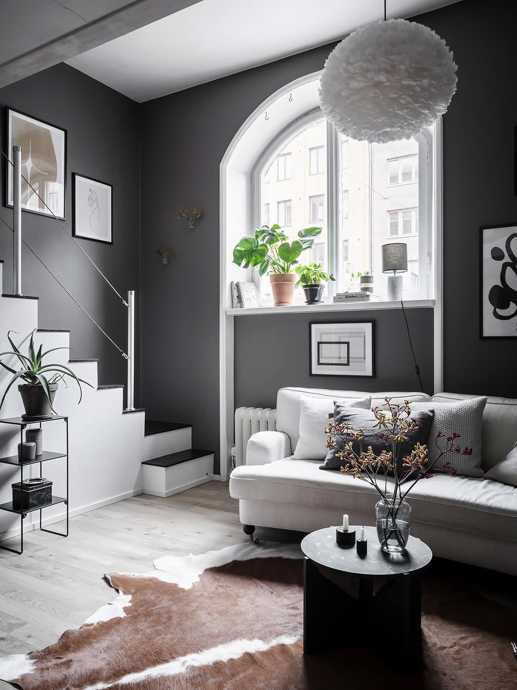 A Tiny Scandinavian Loft Apartment