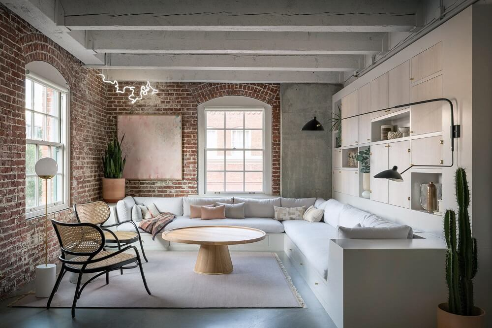 A Serene and Raw Loft Apartment by Jessica Helgerson
