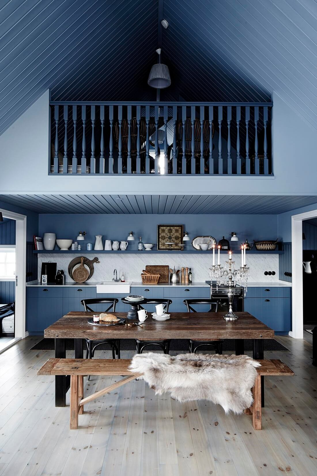 A Black Cottage in Iceland Decorated in Dark Grey Tones