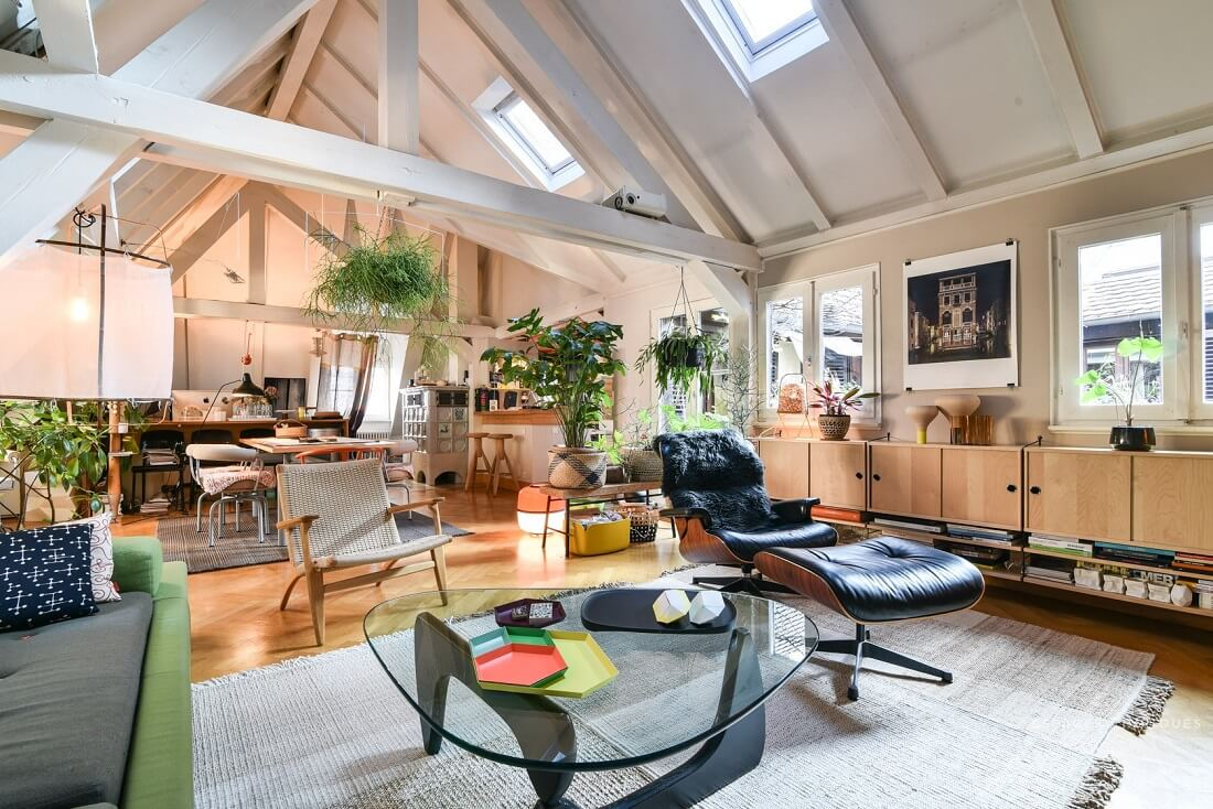 A Cozy Plant-Filled Attic Apartment in Strasbourg