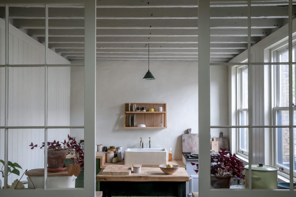 Raw Materials and Chalky Colors in A London Home