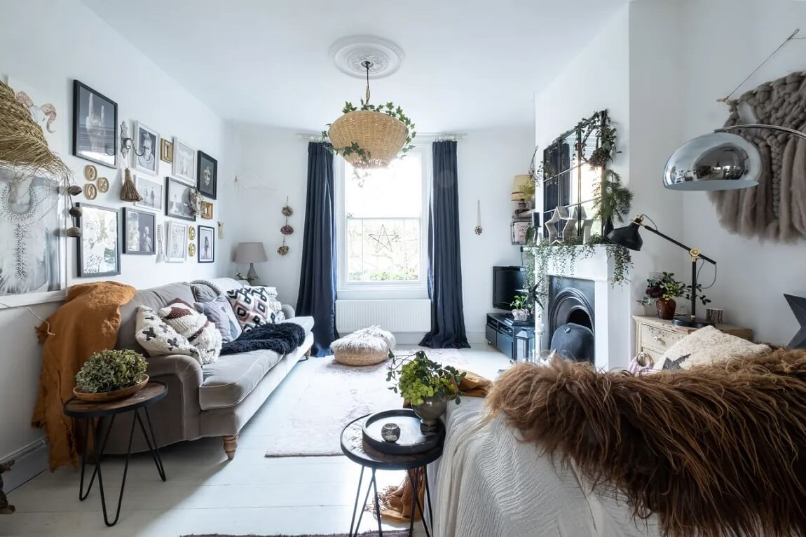 A Bohemian Victorian Home with Scandi touches