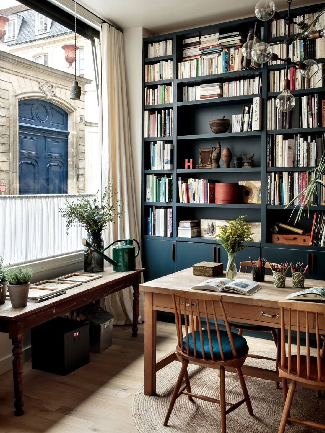 Original Details and Industrial Touches in a Family Home in Paris