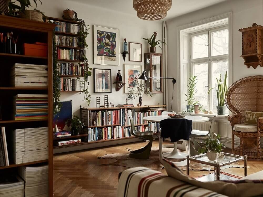A Small Vintage Bohemian Apartment in Stockholm