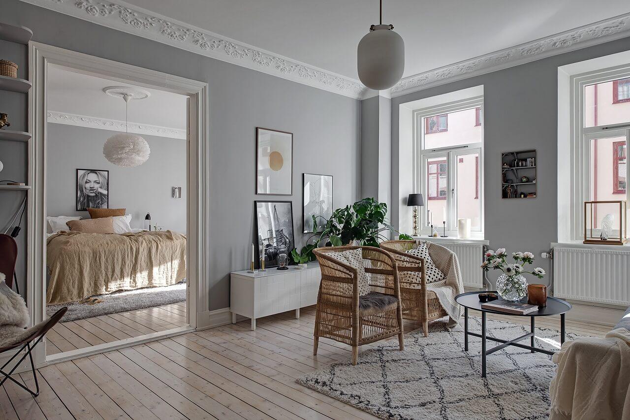 A Lovely Light-Filled Scandinavian Apartment