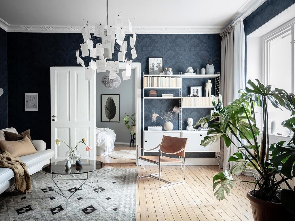 A Beautiful Grey & Blue Scandinavian Apartment
