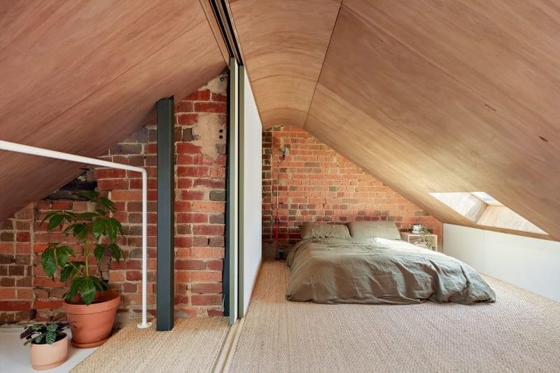 Recycled Materials in A Colorful Architectural Home in Melbourne