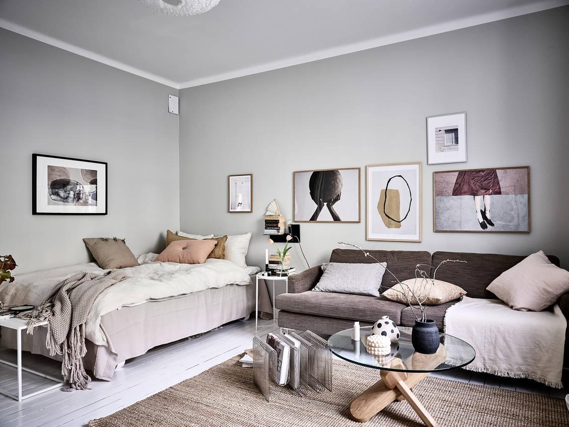 A Stylish Scandinavian Studio Apartment