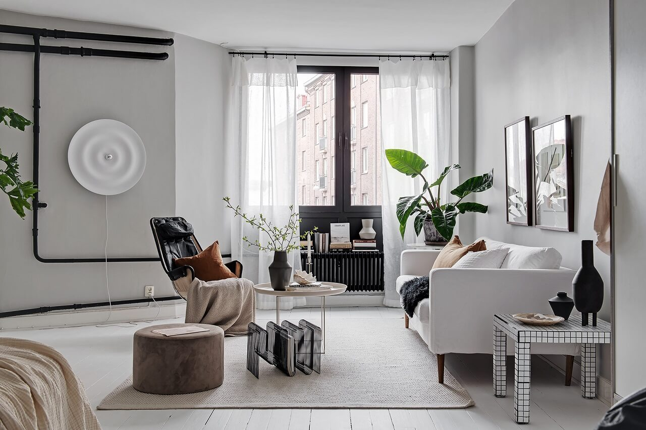 A Soft Scandinavian Studio Apartment