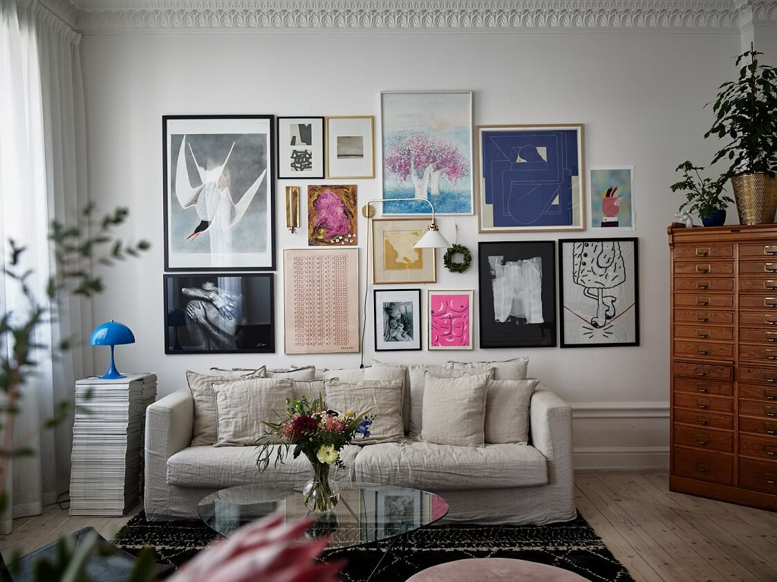 A Stockholm Family Apartment with Charming Kids Bedrooms