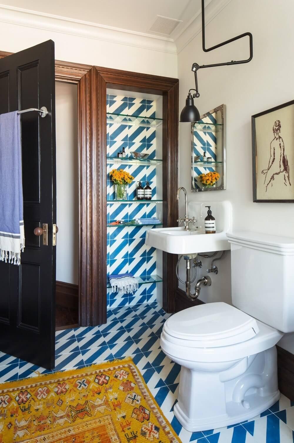 Inspiring Bathrooms With Geometric Tiles