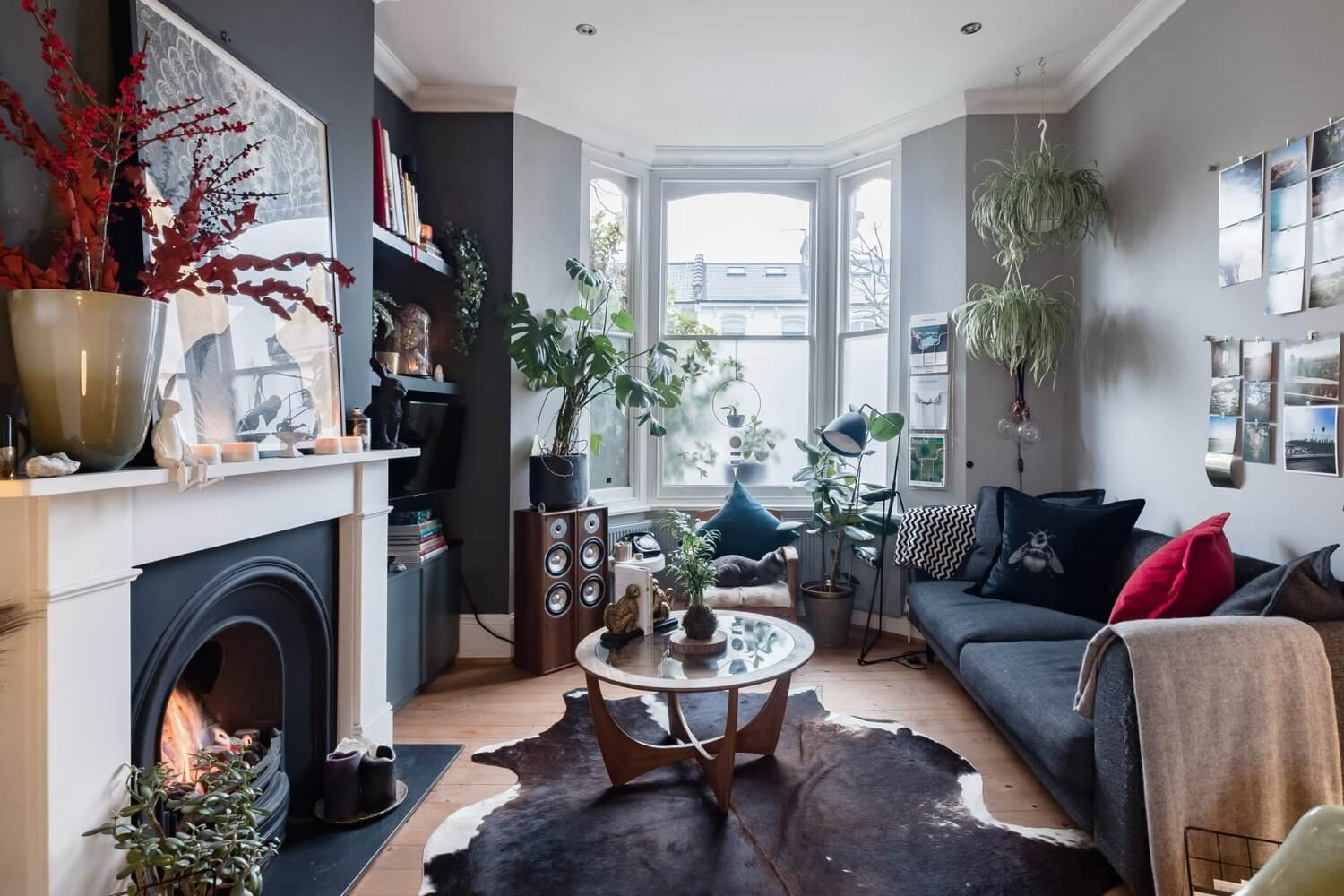 A Cozy Grey London Home Packed With Plants & Art