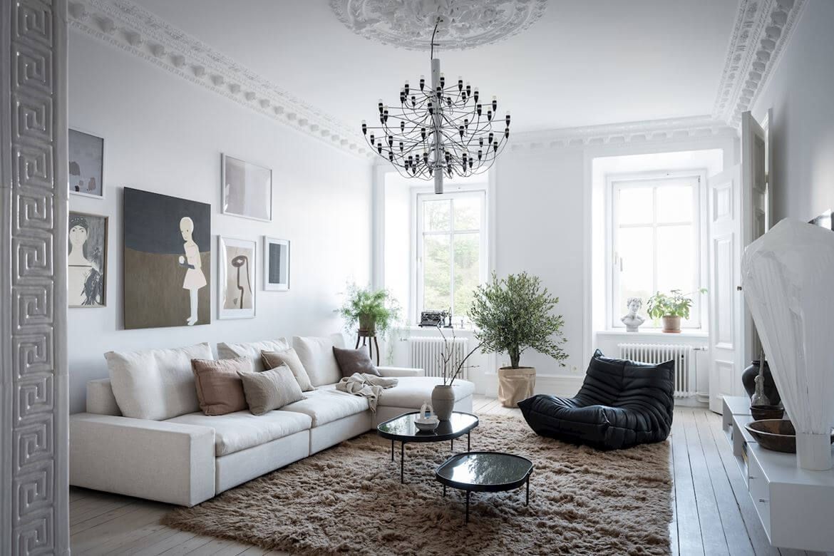 A Beautiful Serene Apartment in Sweden