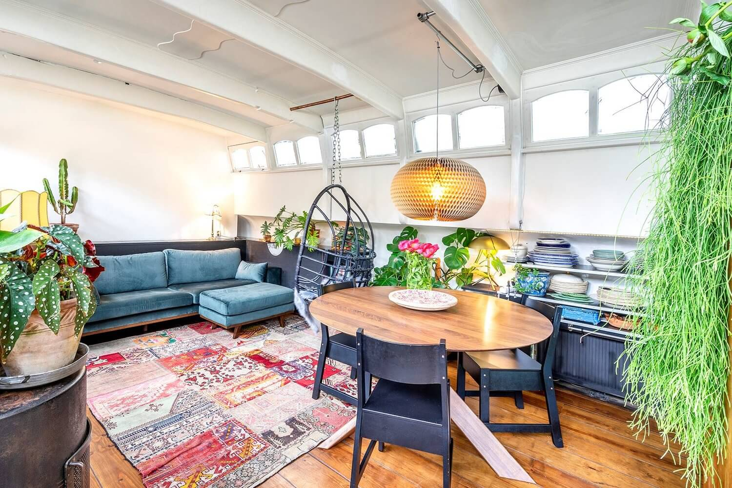 A Bohemian Houseboat On An Amsterdam Canal