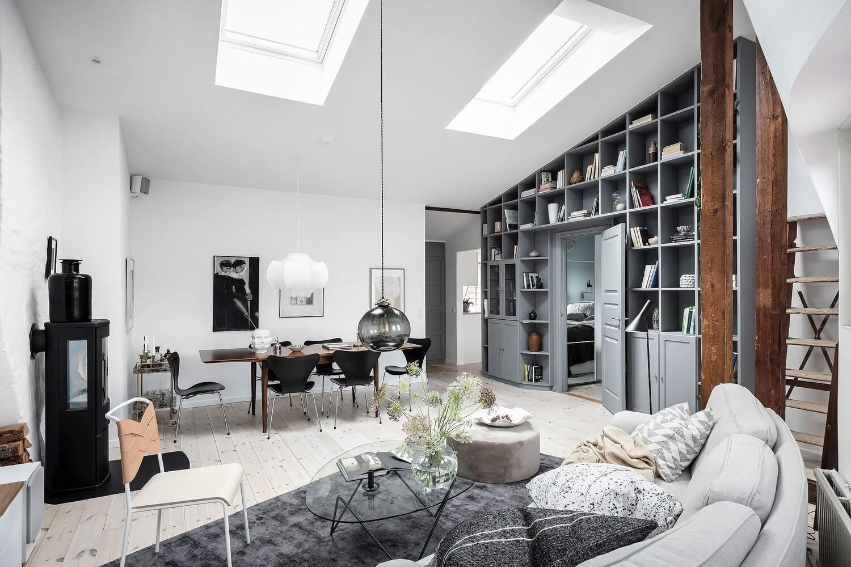 A Stylish And Cozy Scandinavian Attic Apartment