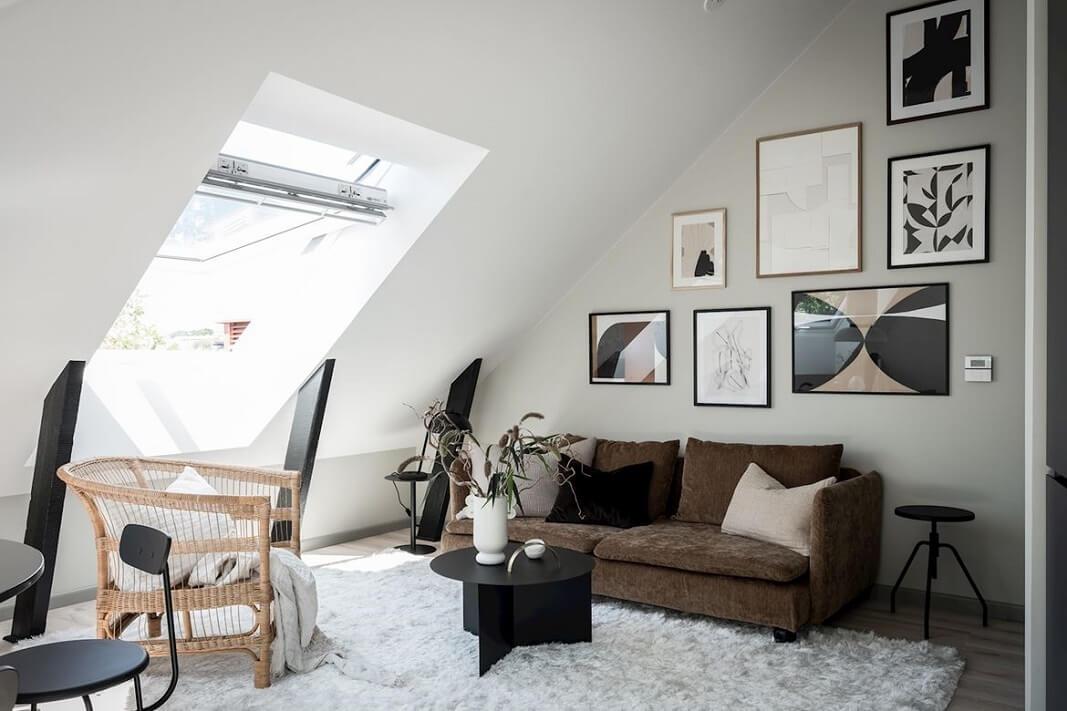 A Bright And Stylish Scandinavian Attic Apartment