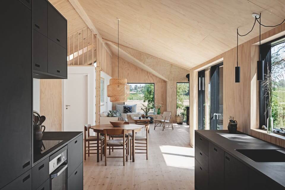 A Wooden Summerhouse With Views Over The Danish Countryside