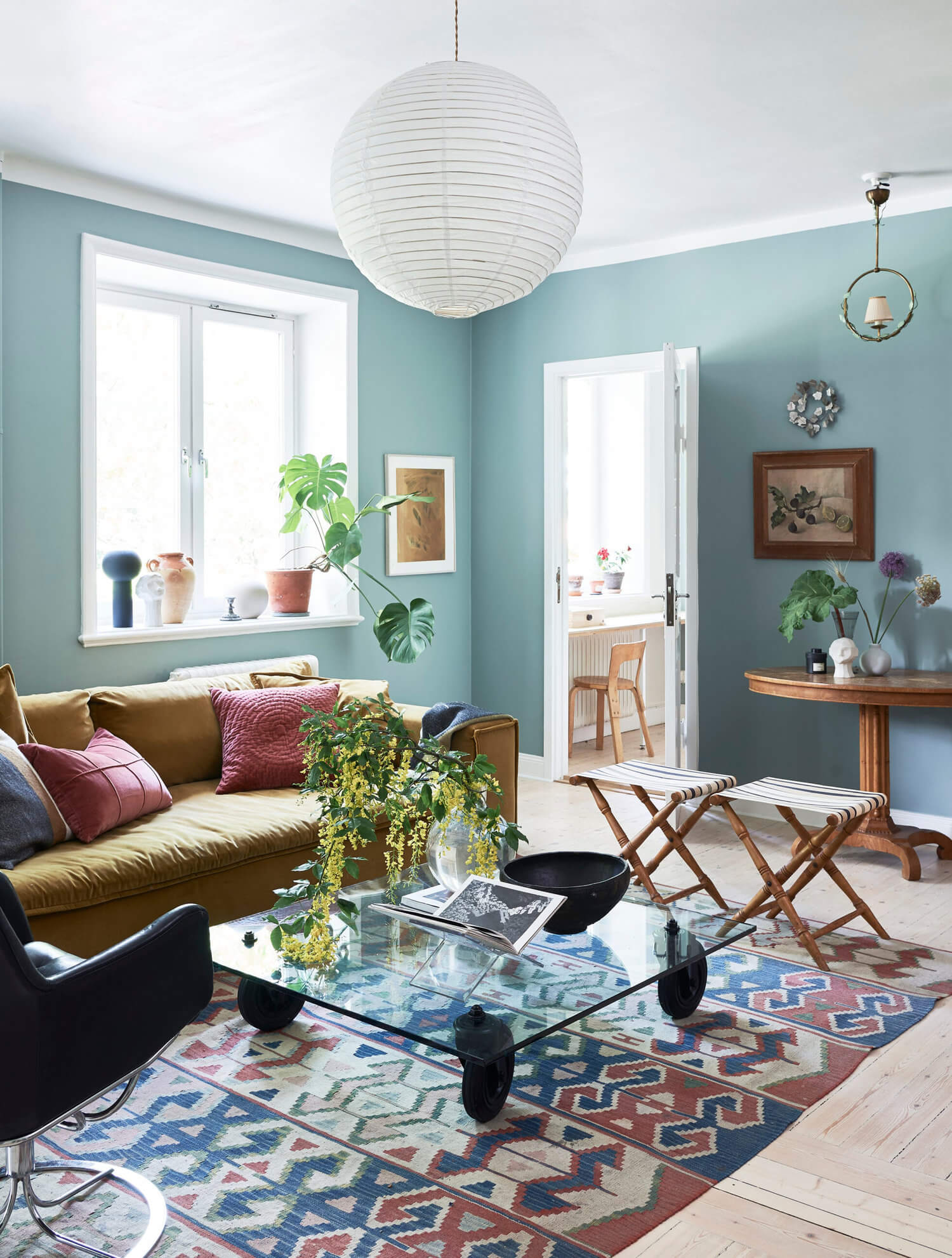 A Stockholm Apartment with Bohemian and Natural Touches