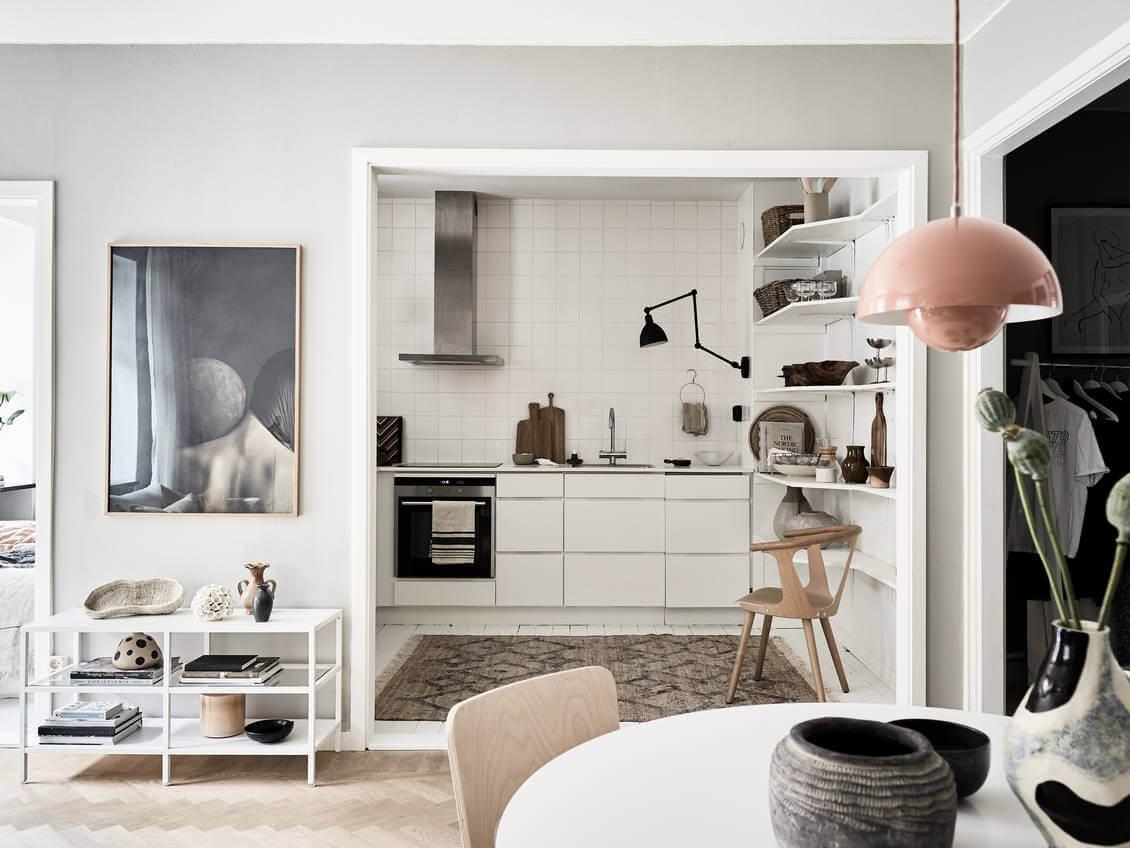 A Small But Stylish Scandinavian Apartment
