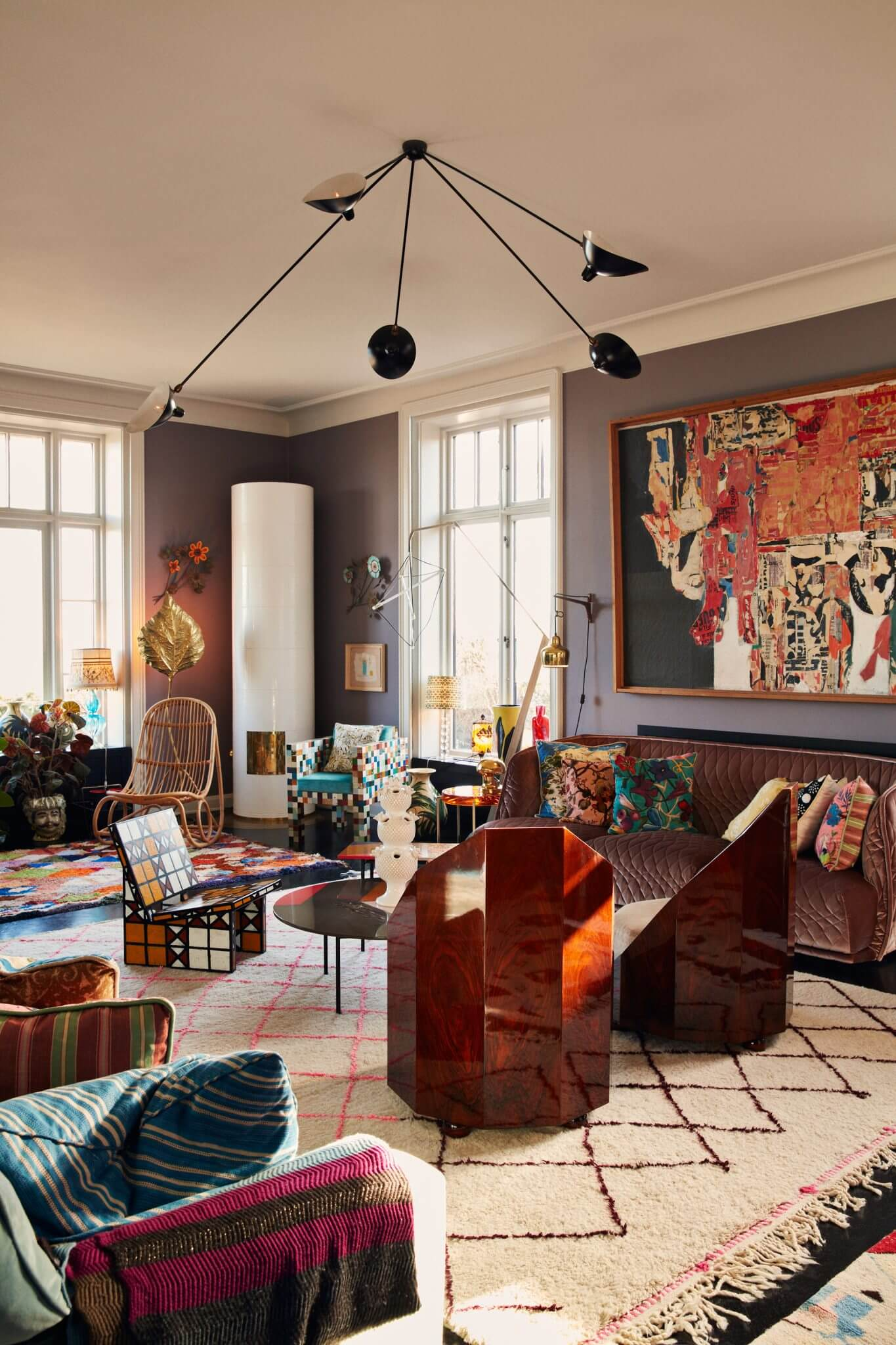 The Colorful Copenhagen Home Of An Art Collector