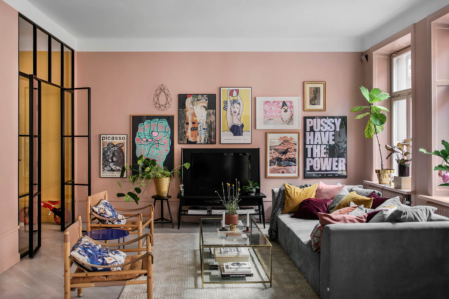 A Color Explosion in a Stylish Scandinavian Home