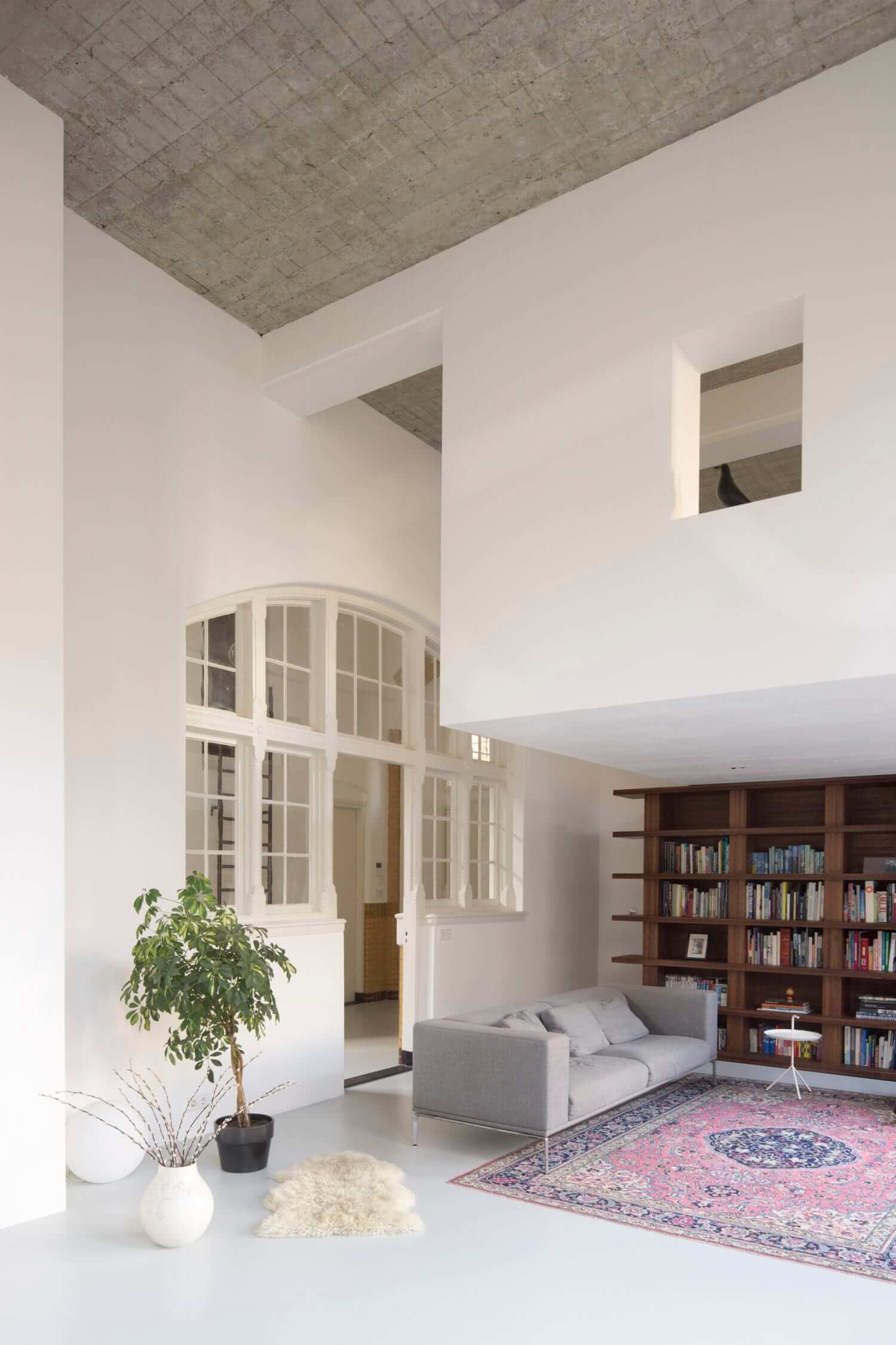 A Minimalistic Loft Apartment in a Former School Building