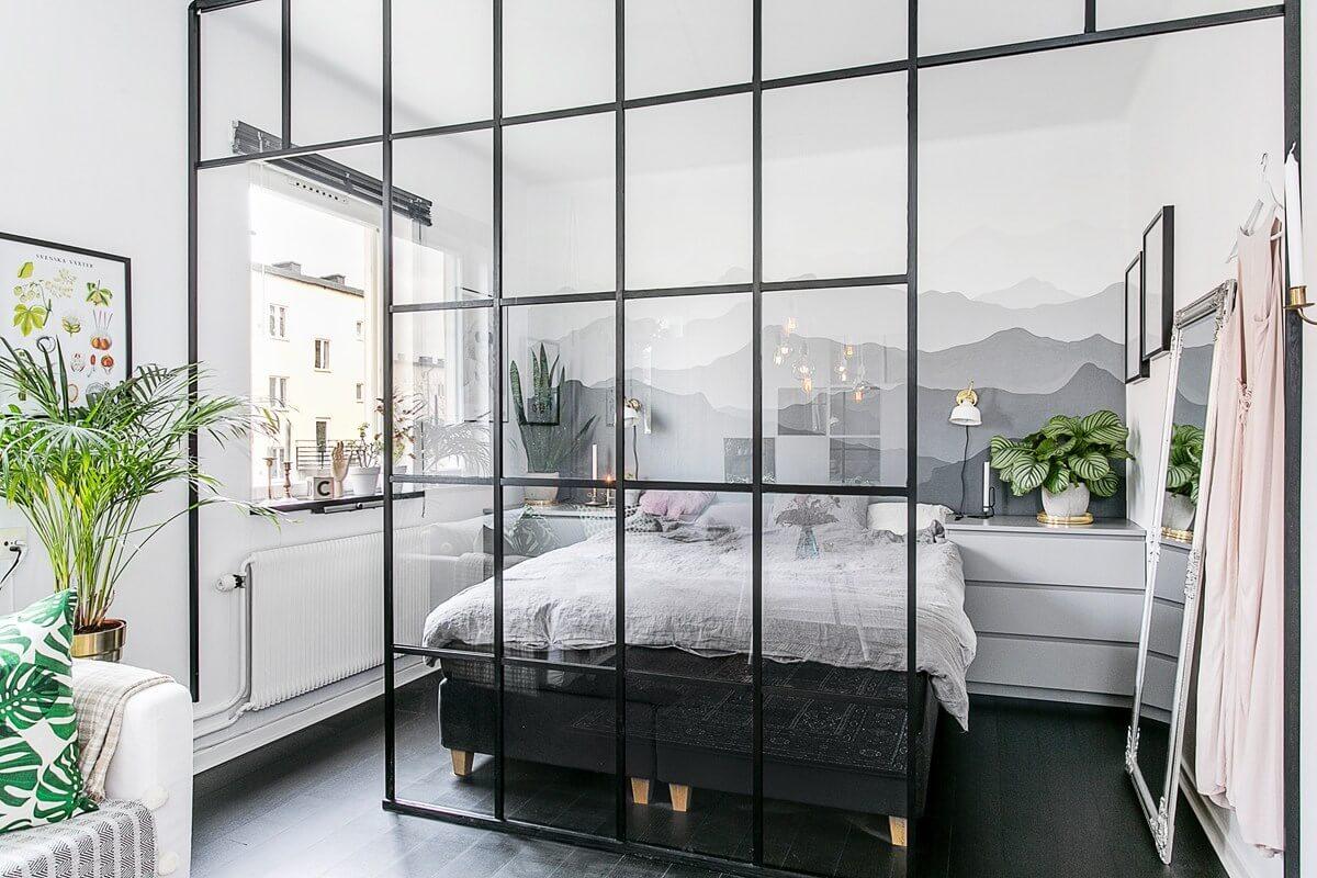 studio-apartment-glass-wall-divider-nordroom