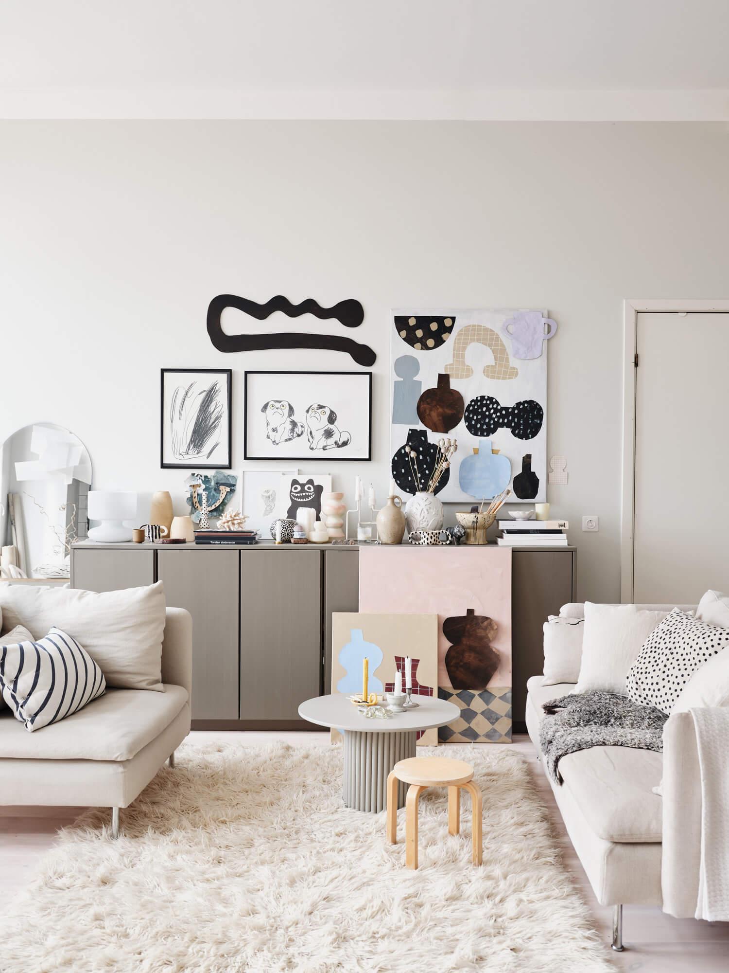 Subtle Pastel Hues In The Home Of Swedish Artist Emilia Ilke