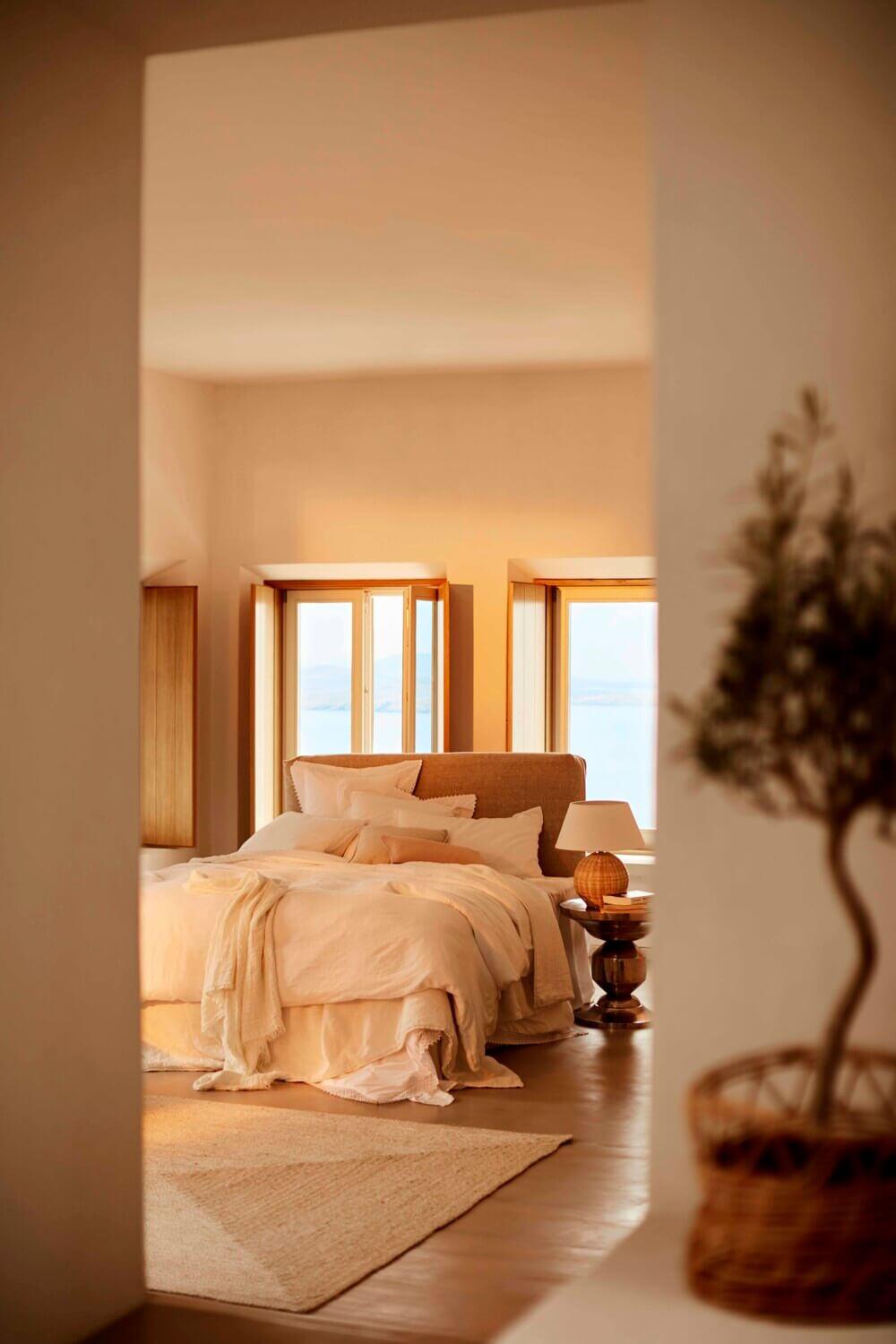 A Greek Villa Decorated in Warm Natural Tones by Zara Home