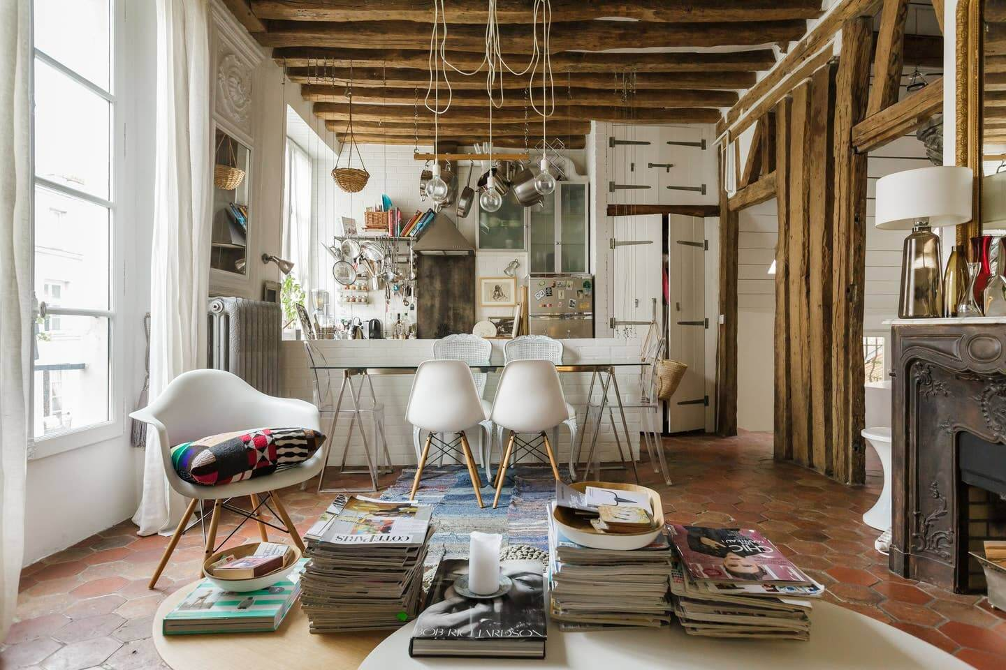 A Cozy Airbnb Apartment in an 18th-Century Building in Paris