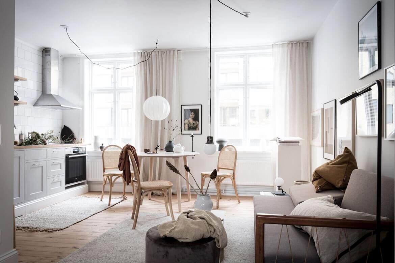 A Small Beautiful and Light Scandinavian Apartment