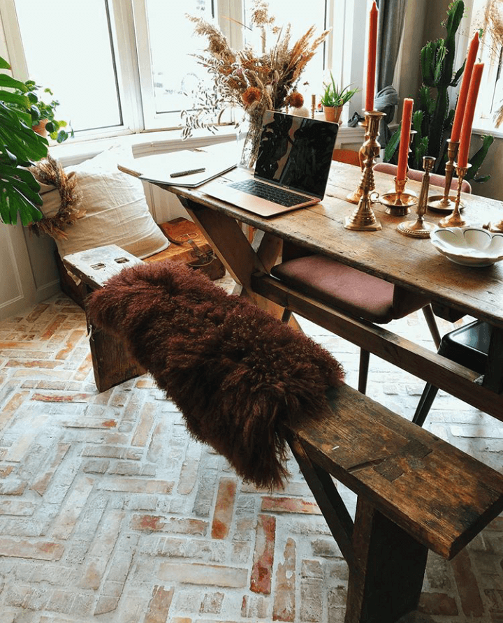 Warm Colors in a Cozy Family Home in Copenhagen