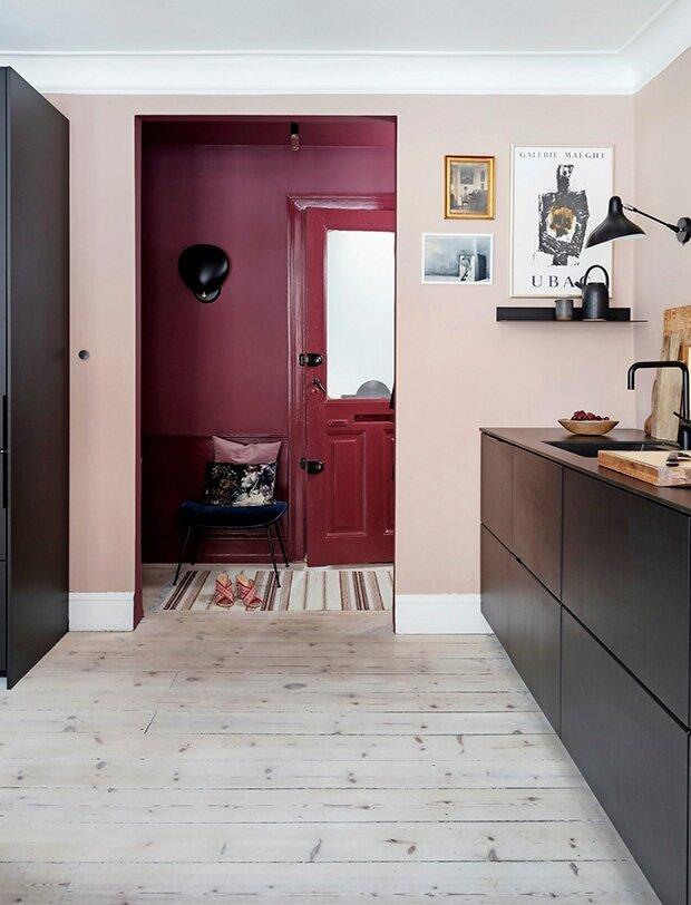 A Copenhagen Apartment in Pink and Blue Tones