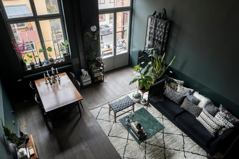 A Moody Scandinavian Loft Apartment