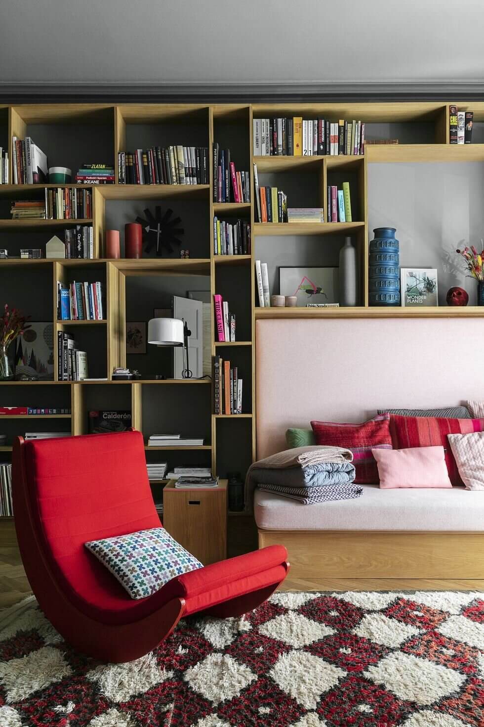 A Unique Pink and Grey Scandinavian Family Home