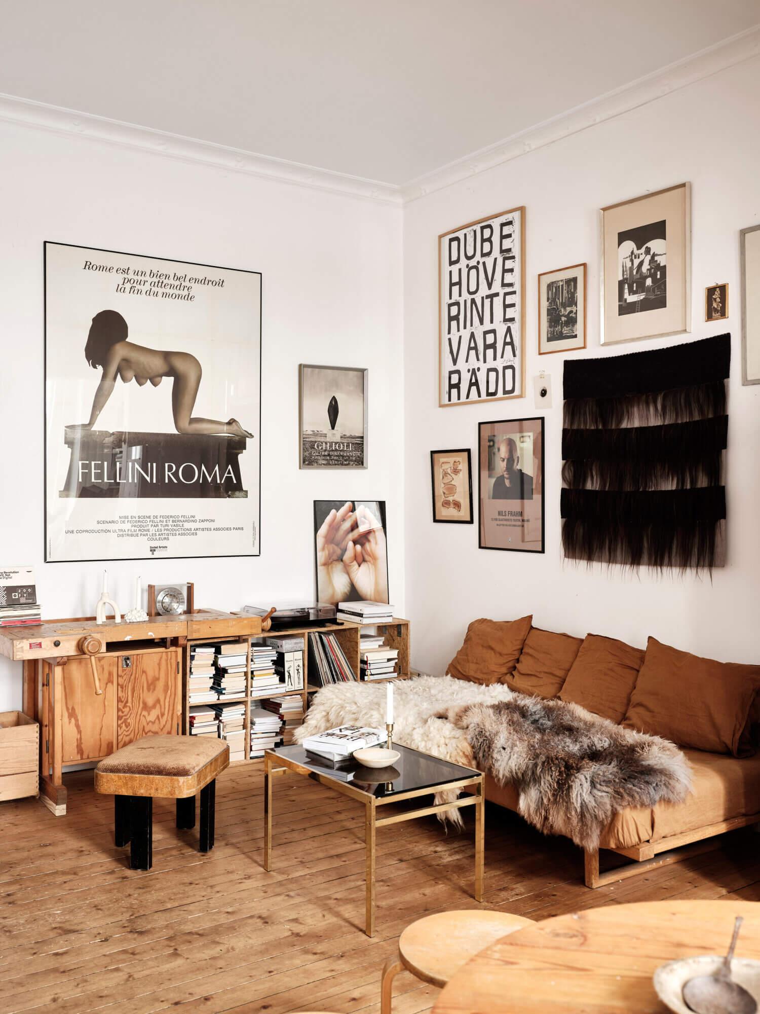 Natural Materials in a Calm Swedish Apartment