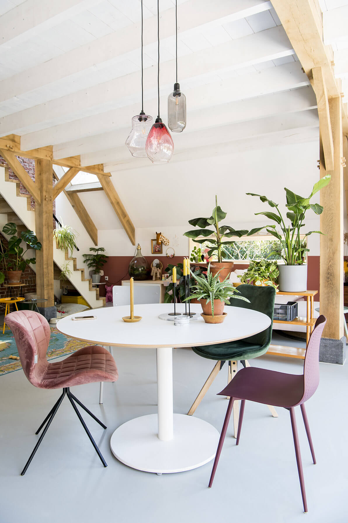 Pink Touches in a Modern Family Home in The Netherlands