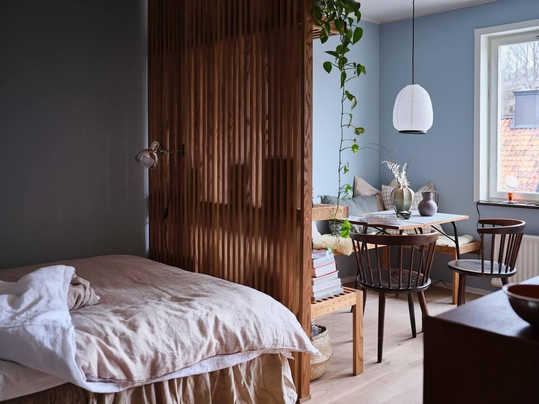 A Tiny But Stylish Blue Studio Apartment
