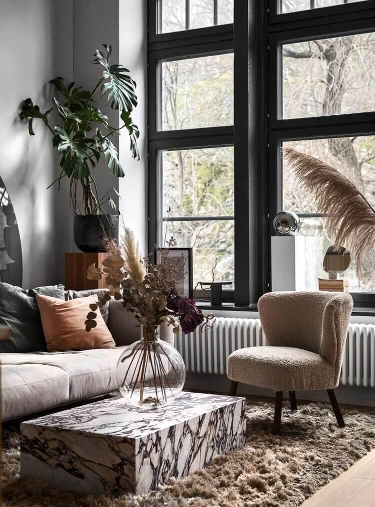 A Small Monochrome Scandi Loft Apartment