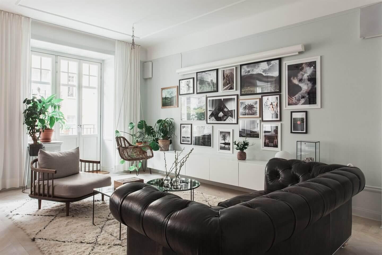An Elegant One-Bedroom Apartment in Stockholm