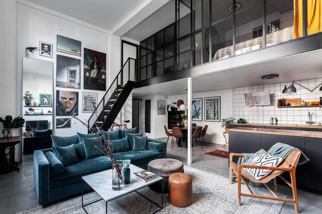 A Cool Industrial Scandinavian Loft Apartment