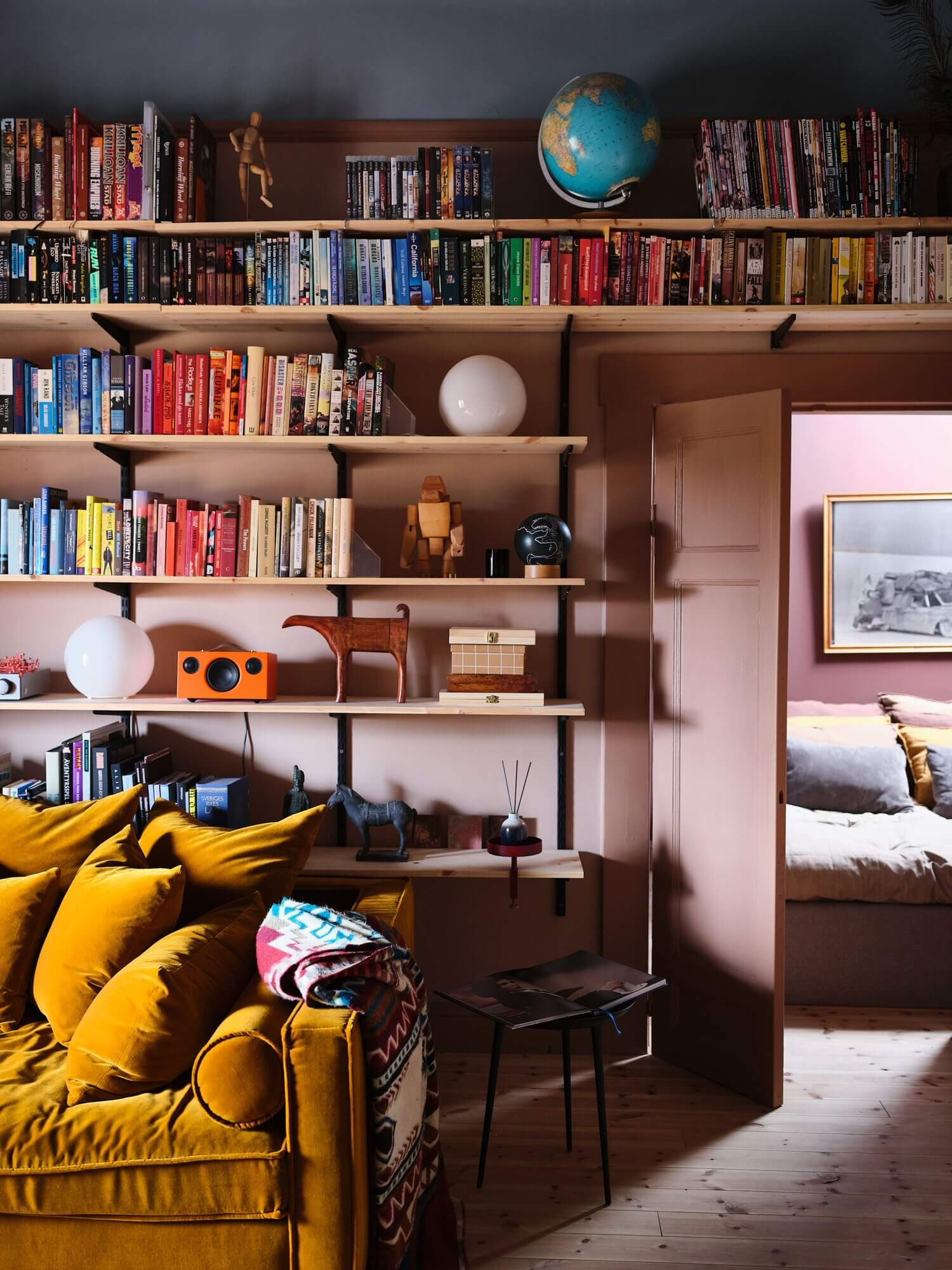 A Small Dusty Pink Dream Apartment in Sweden