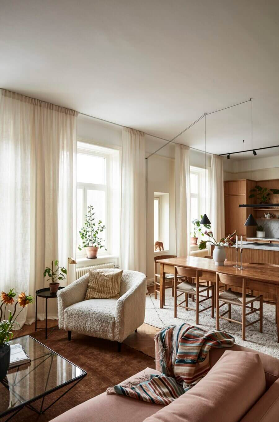 A Warm Stockholm Apartment with Oak Touches