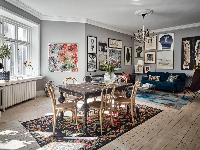 A Grey Art-Filled Scandinavian Apartment