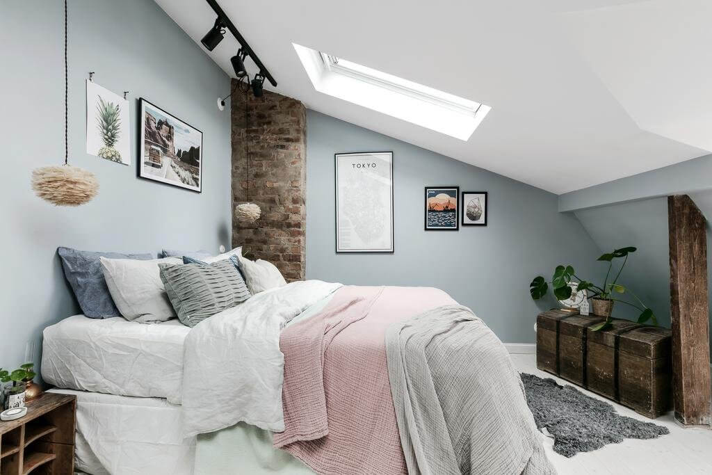 A Scandi Home With A Very Cozy Attic Bedroom