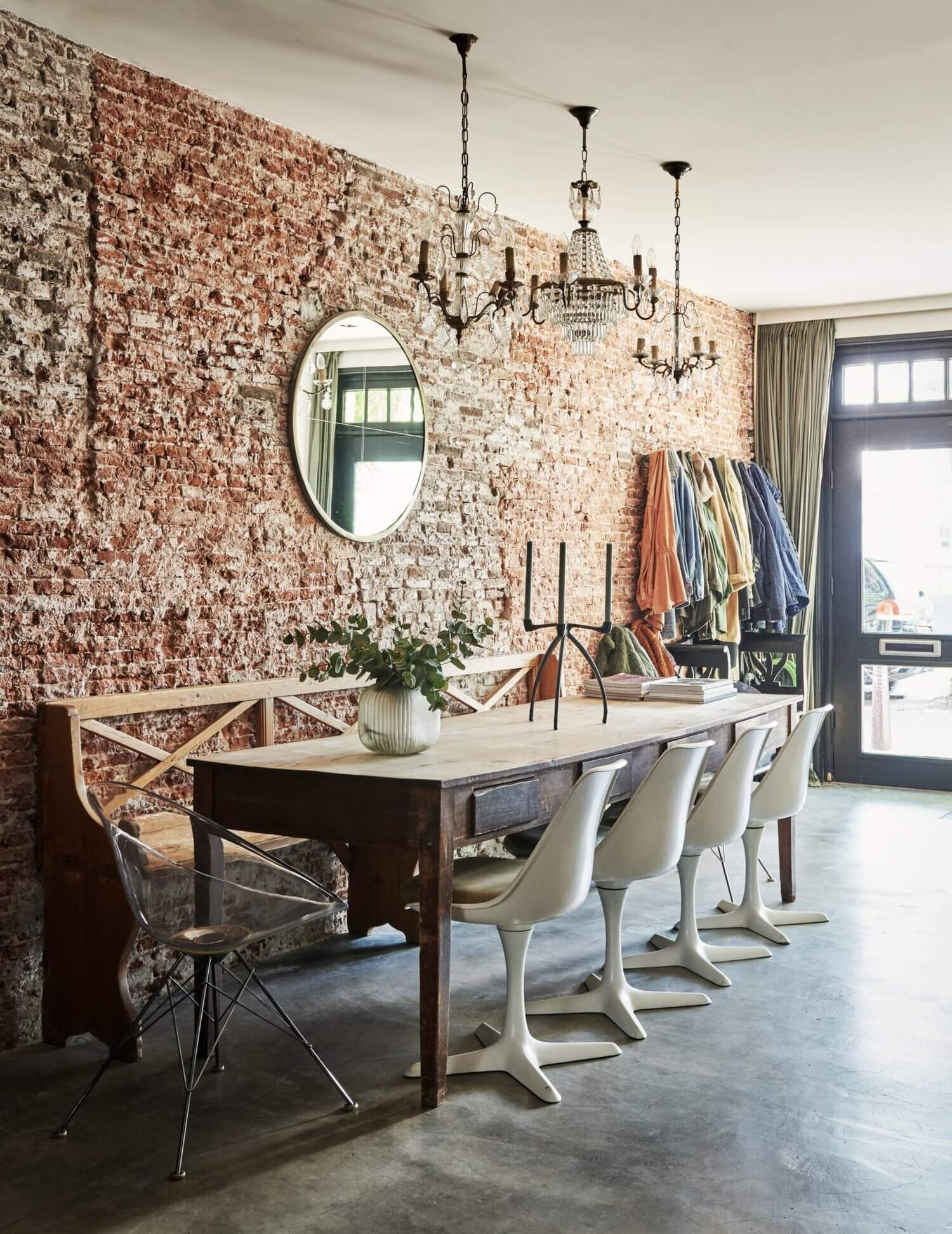 Natural Tones and Industrial Elements in an Amsterdam Home