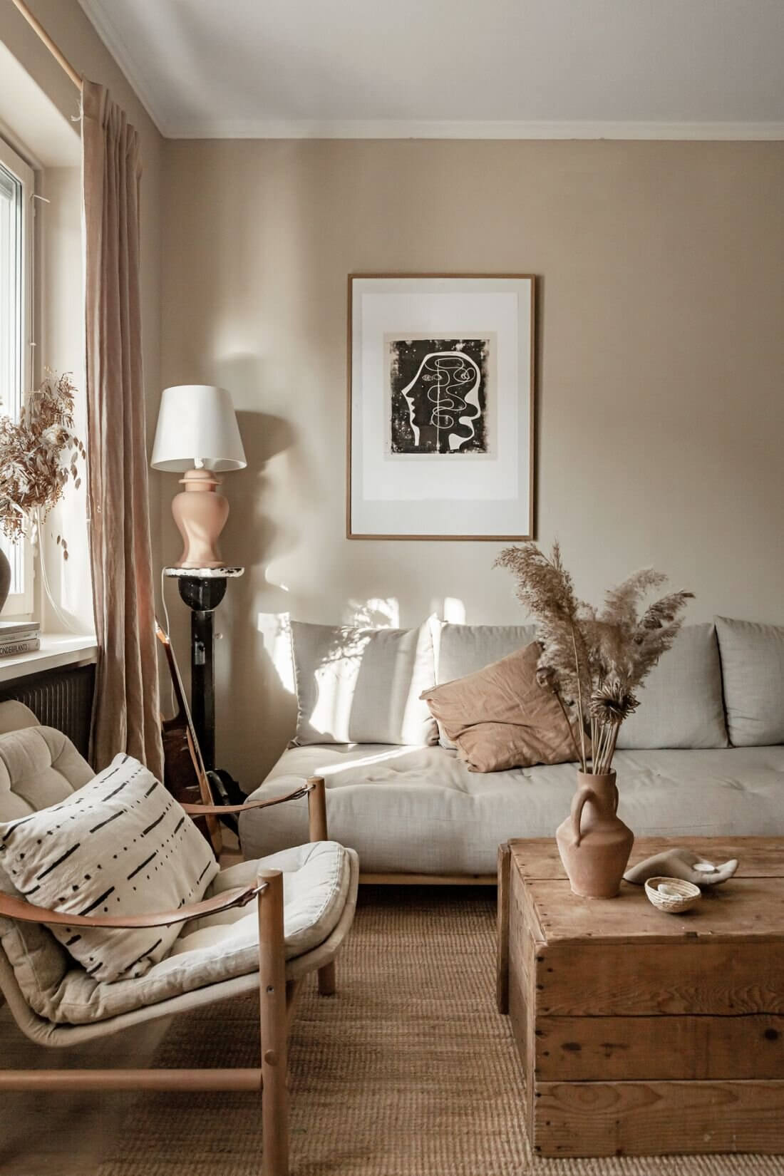 Earthy Tones and Natural Materials in a Scandi Apartment